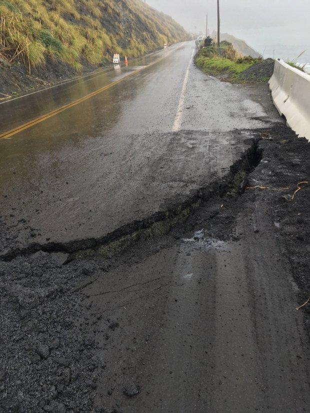 Landslides keep Highway 1 closed at Mud Creek south of Big