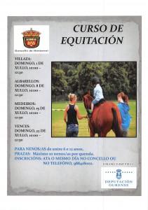 CARTAZ CURSO EQUITACION