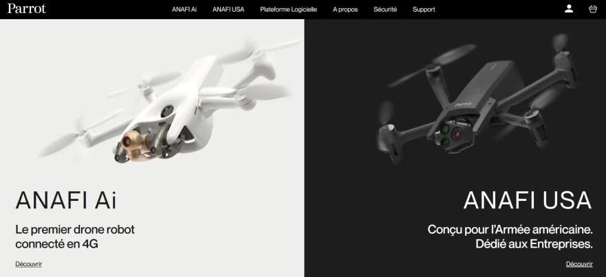 Parrot : drones pour professionnel