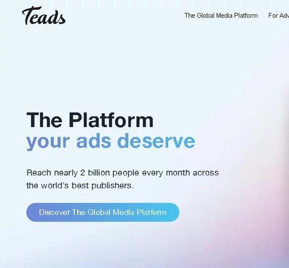 Teads : la plateforme de publicité française