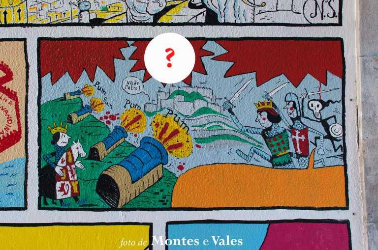 Que data está escondida neste mural de Nuno Saraiva?