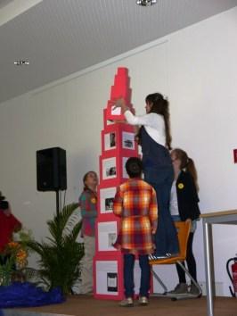 Aufbau des Rosa Turms-3