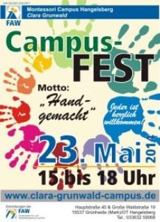Plakat zum Campusfest 23.05.2014
