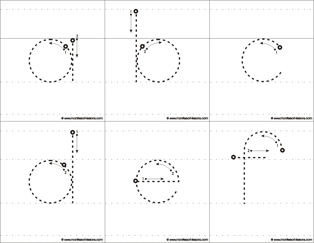 Montessori Lessons Tracing Big Letters A Z