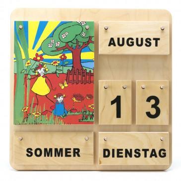 Kinder Lernkalender aus Holz  Dauerkalender Montessori Material Kosmische Erziehung