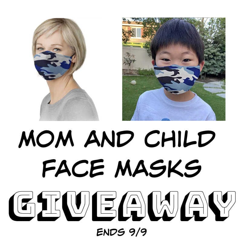 Mom and Child Face Masks #Giveaway Ends 9/9 @GrandFusionHW @las930