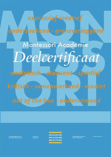 Het officiële Montessori Academie certificaat