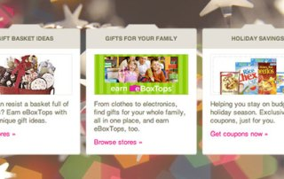 boxtops screenshot with holiday decoration background