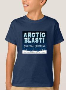 2018 arctic blast fall festival navy teeshirt logo model