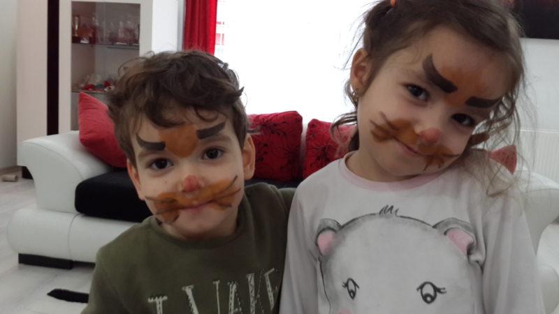 Palyaço Okulu Siniftaki Aslan Yüz Boyama Etkinliği Montessori