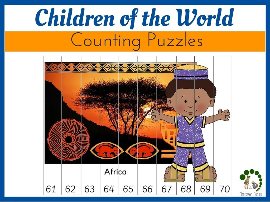 Children Of The World Counting Puzzles