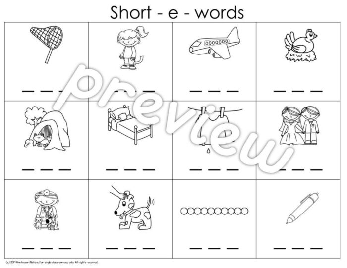 Cvc Photetic Reading And Handwriting Practice Word Puzzles