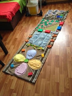 DIY Sensory Rugs for Kids  Montessori Nature