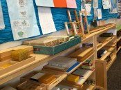 Montessori materials on the shelves at LCMCS