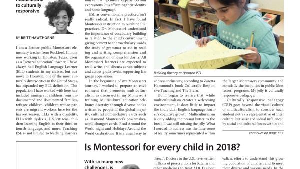 Building a viable teacher pipeline for public Montessori schools