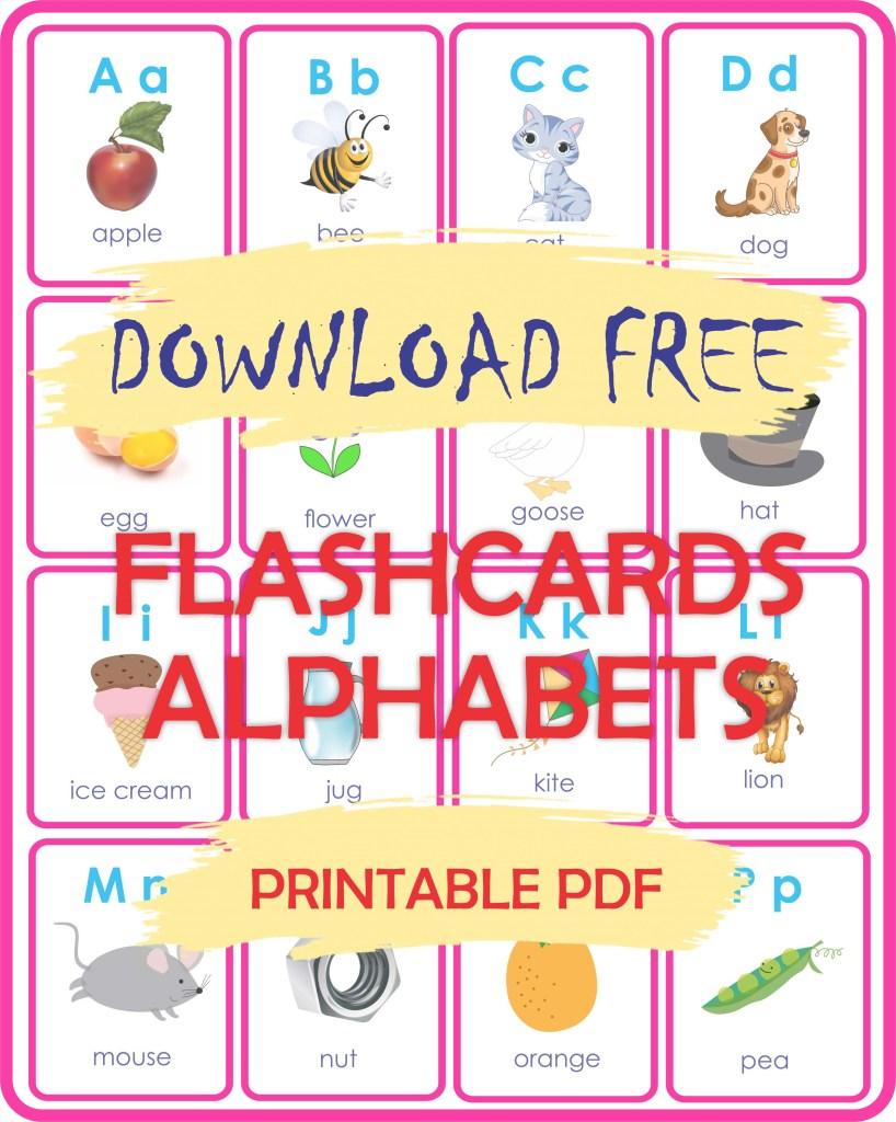 English Alphabets flashcards