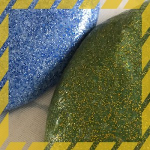 Glitter slime blue and green
