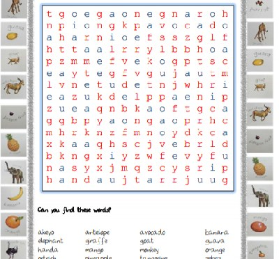 Handa Surprise Word Search
