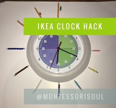 5 Minute Ikea Classroom Clock hack – Free Download