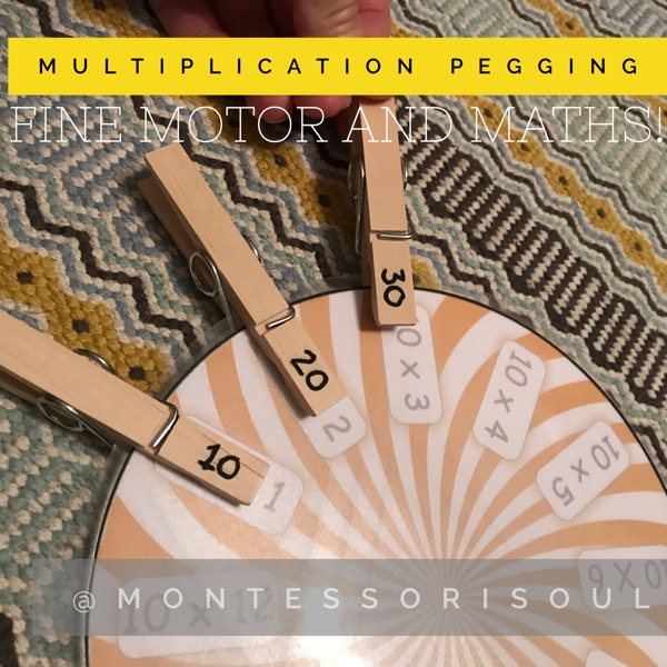 Multiplication Times table circles pegging activity