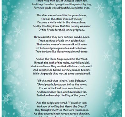 Christmas poems advent