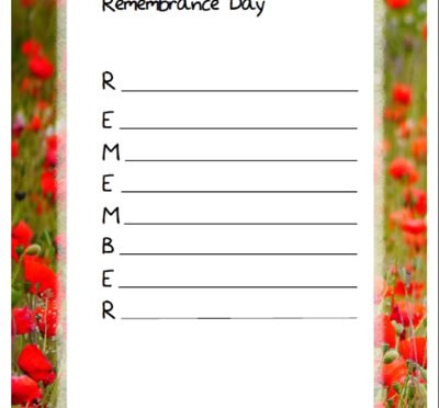 Remembrance day acrostic poem templates montessorisoul remembrance day acrostic poem templates pronofoot35fo Choice Image