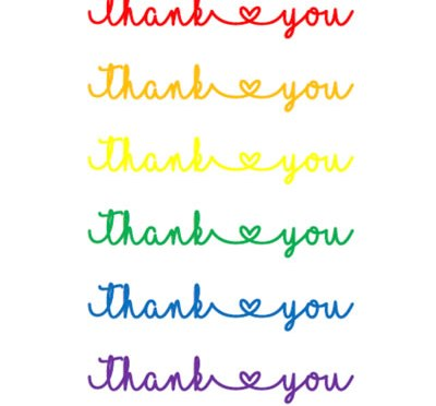 Thank you cards – English