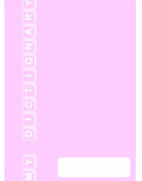 Personal Dictionay – light pink