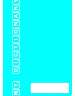 Personal Dictionary – Turquoise