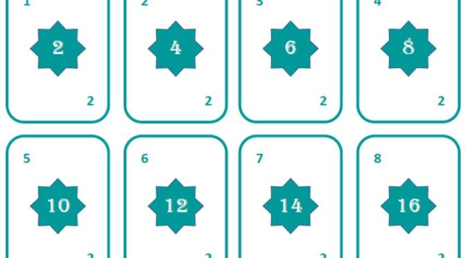 Times tables practise cards – 2 5 10 and 3