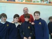 Los autores junto al maestro Julio Giordano