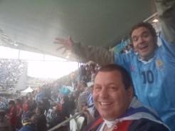 En el Estadio, disfrutando la previa del partido contra los ingleses