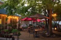 Patio Garden area at the Montford Inn, Norman Oklahoma hotel and bed and breakfast