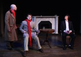 The mysterious Mr Robins talks - (Dr. Watson (Paul Noga), Robins (Samuel Pollin), and Sherlock Holmes (Matt Sims)