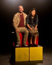 Kokoro and Gray on ferris wheel