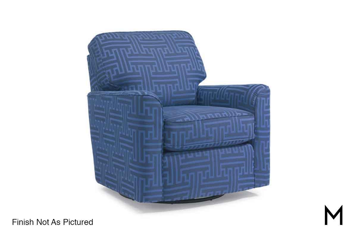 blue glider chair desk the range darby swivel in patterned navy