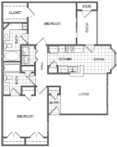 2 Bed / 2 Bath / 1,049 sq ft / Availability: Please Call / Deposit: $250 / Rent: Please Call