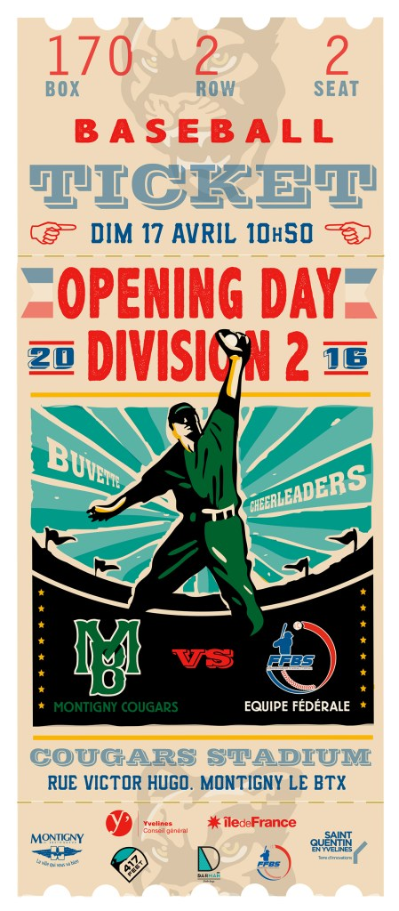 affiche cougars opening day