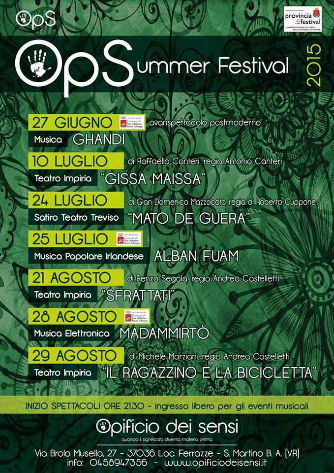 opificio summer festival 2015 calendario n