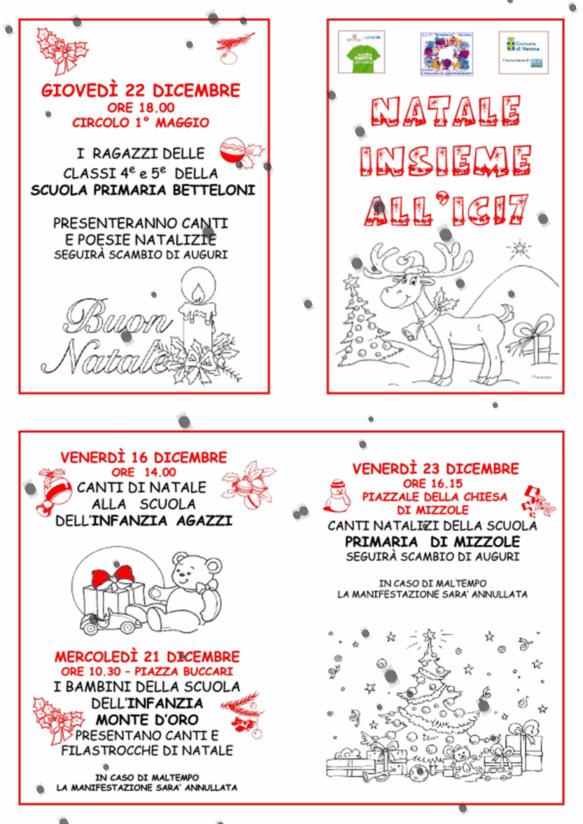 Poesie Di Natale Per Scuola Infanzia.Natale Insieme All Ic17 Www Montorioveronese It