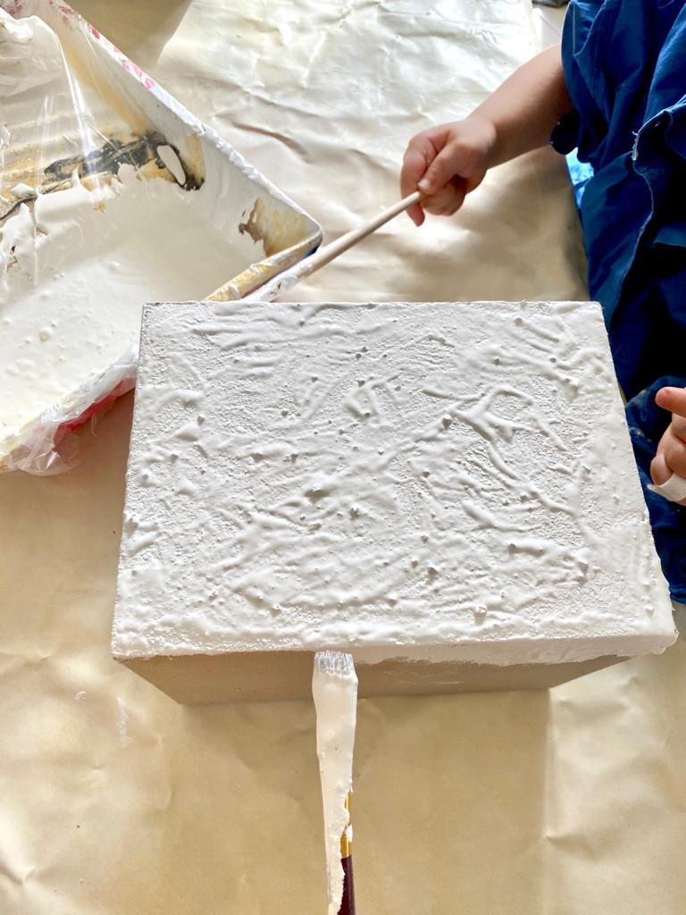 Appliquer la peinture au bicarbonate de soude