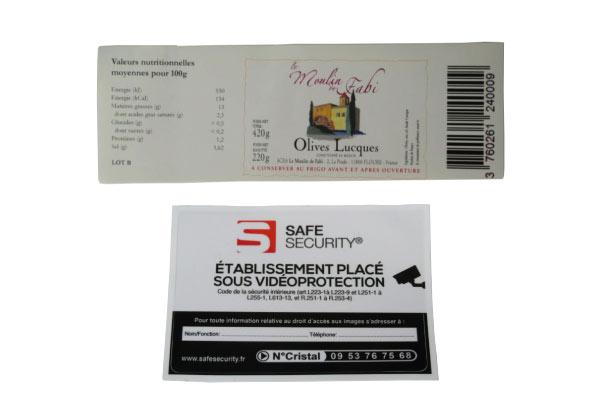 Étiquettes adhésives velin blanc et PVC/vinyle à Montpellier