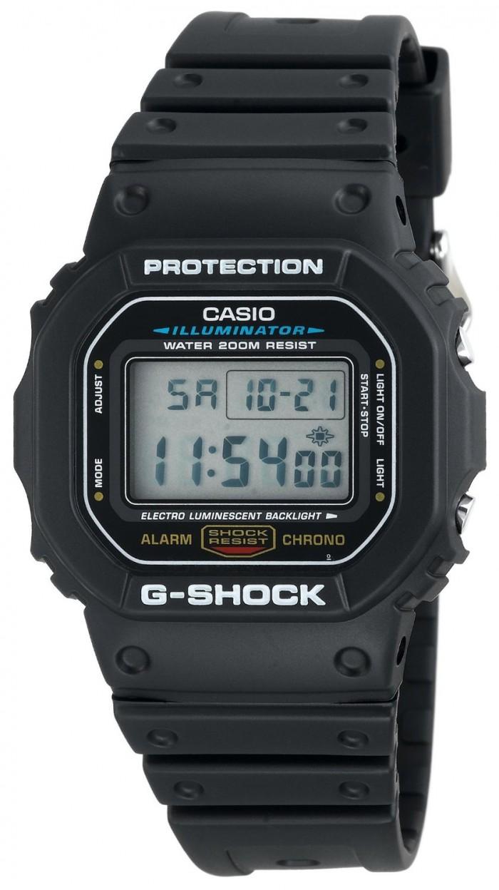 Casio DW5600E-1V | Montre Acier. Casio. Gris. Homme. Noir. Quartz. Rond