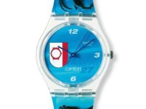 Montre Swatch 27 STE KANTON SWATCH BLEUE GZ174 pour GARCON