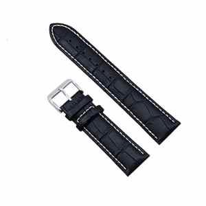 Zeiger Bracelet en Cuir 22mm Noir – Bande de bracelet montre Bracelet cuir Remplacement boucle Wrist Watch Deployante Noir – pour Montre Homme Montre Femme – Water-Resistant Resistant a l'eau Etanche