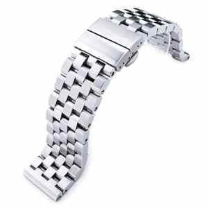Montre 22mm Metal Band – Affichage bracelet Acier Inoxydable Argent et Cadran SSD242410B024
