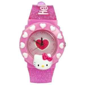 Montre Hello Kitty «Coeur» Rose à Paillettes