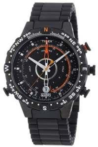 Timex – T49709 ES – Montre Homme Sport – Timex Expédition – E-Instruments – Quartz Analogique – Bracelet Acier Noir