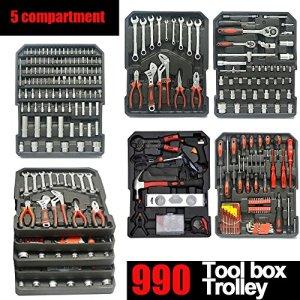 Generic…. E Roulettes Roulettes Boîte à outils Trolley Astors au Box Coque mécanicien Outil Ensemble kit OX mécanique Organiser et kit Box