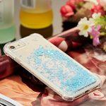 Housse Etui pour iPhone 8 Plus (5.5 pouces),Paillette Coque pour iPhone 7 Plus (5.5 pouces),Leeook Créatif Drôle 3D liquide qui Coule Brillant Glitter Bleu Pentacle Ultra Mince Cristal Clair Transparent Souple Doux Quicksand Coquille Couverture Etui de Protection pour iPhone 8 Plus/7 Plus (5.5 pouces) + 1 x Noir Stylet-Blue Pentagram